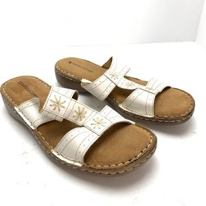 NATURALIZER White Genuine Leather Sandals Shoes  7